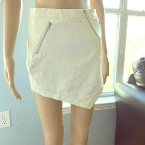 Dresses & Skirts - Boutique skirt! Faux white leather size:Xs